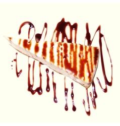 Cheesecake vector image vector image