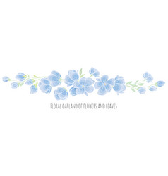 design element - blue sakura blossom vector image vector image