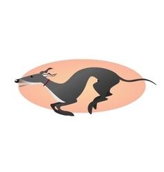 Running greyhound Stylized image dog vector image