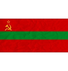 Transnistria paper flag vector image vector image
