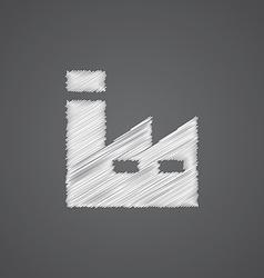 factory sketch logo doodle icon vector image vector image