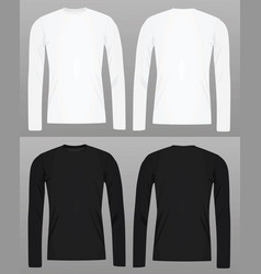 long sleeve t shirt template vector image