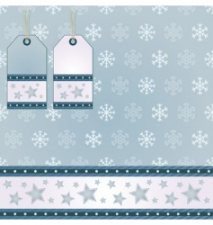 snowflake wrapping vector image vector image