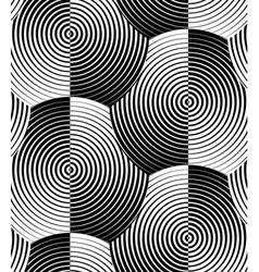 Striped Shells Black White Seamless Pattern vector image vector image