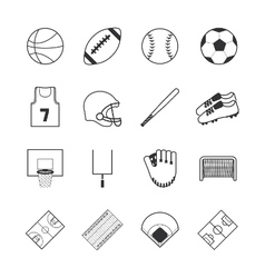 team sports icons vector image
