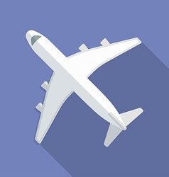 Airplane icon Modern Flat style with a long shadow vector image vector image