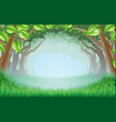 beautiful woodland scene vector image vector image