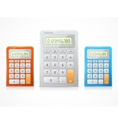 colorful calculator set vector image vector image
