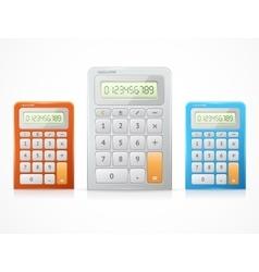 colorful calculator set vector image