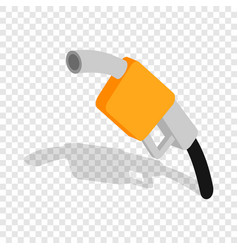 gas station gun isometric icon vector image