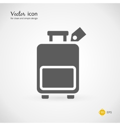 Gray Suitcase or Luggage Graphic Design vector image