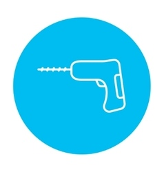 Hammer drill line icon vector image