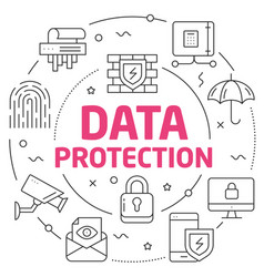 lines data protection vector image
