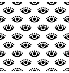 seamless pattern with eye flat vector image vector image