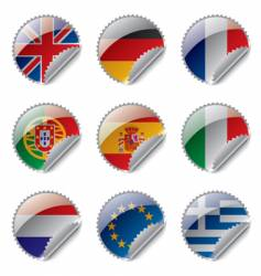 world flag labels vector image vector image