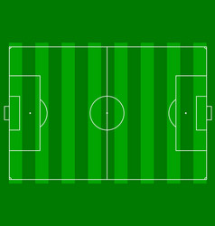 a football pitch vector image