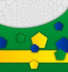 Abstract brazilian background with geometric vector