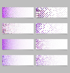 Abstract diagonal rounded square pattern banner vector