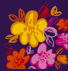 Abstract vivid grange summer flower element vector