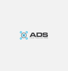 ads auto drone system logo vector image