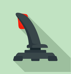 airplane joystick icon flat style vector image