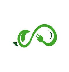 alternative renewable sustainable energy logo vector image