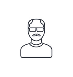 avatar father adult man thin line icon linear vector image