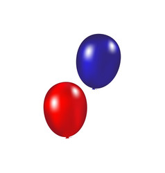 balloons on a white background vector image