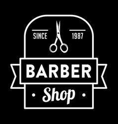 barber badge and logo good for your shop vector image