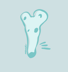 beautiful hand drawn cartoon style mouse head vector image