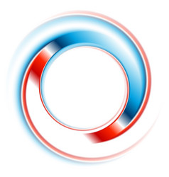 blue and red round circle logo design vector image