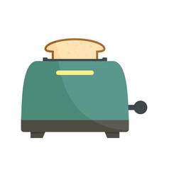 Bread toaster icon flat style vector