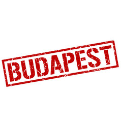 Budapest red square stamp vector
