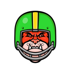 bulldog american football mascot vector image