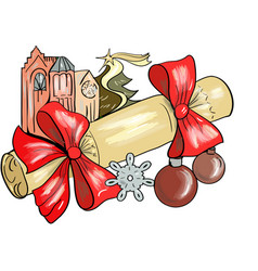 Christmas cracker vector