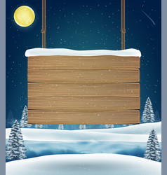 christmas direction wood board sign on snow vector image