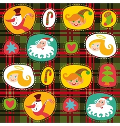 Christmas tartan plaid pattern background vector image