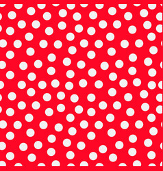 colorful seamless vivid red pattern with white vector image