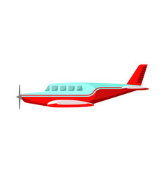 Commercial airplane flat vector