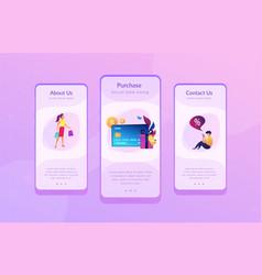 debit card app interface template vector image