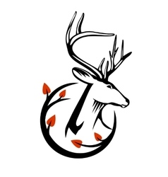 Deer Head vector image