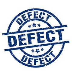 Defect blue round grunge stamp vector