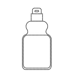 detergent bottle icon in monochrome dotted vector image