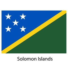Flag of the country solomon islands vector