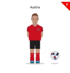 Football kit Austria vector image