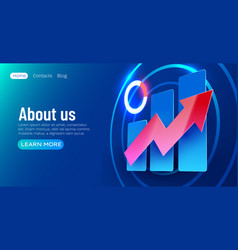 Futuristic growing chart banner finance and vector