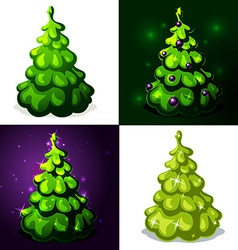 Green christmas tree - vector