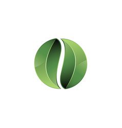 green leaves in recycling symbol recycling icon vector image