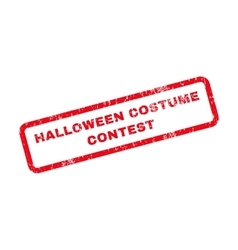 Halloween Costume Contest Text Rubber Stamp vector