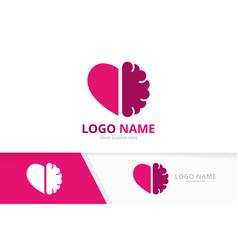 Heart and brain logo combination unique vector